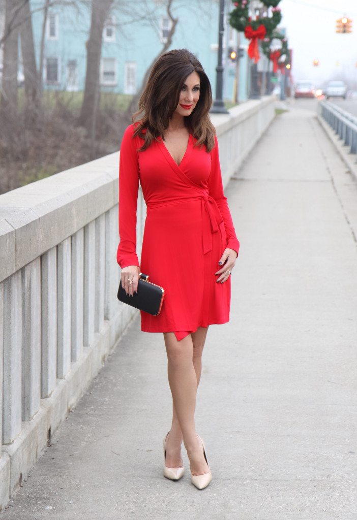 I Donu0027t Think You Can Ever Go Wrong Wearing A Vibrant Red Dress On Your Valentineu0027s  Date Night With Your Honey. This Calvin Klein Dress Is Sold Out, ...