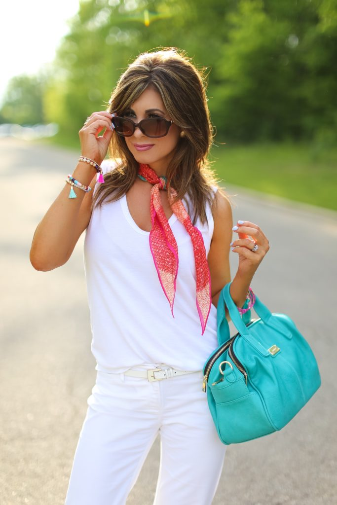 Two Ways to Wear White + Two Hairstyles