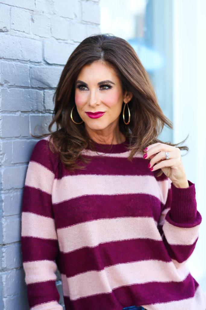 Gauzy Striped Sweater